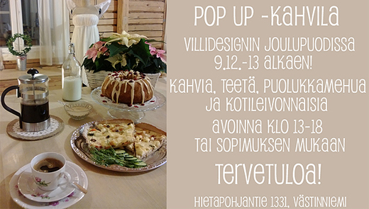 Pop up kahvila